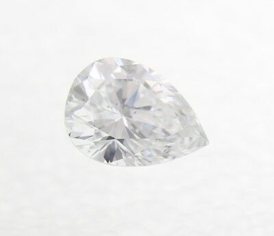 0.14 Carat F Color Pear Shape Enhanced Natural Loose Diamond For Ring 4.44X3.22m