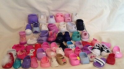 Lot Of 55 Single Replacement Doll Shoes Fisher Price Cabbage Patch And More