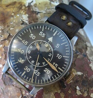 .1943 A Lange & Söhne B-Uhr World War Ii Luftwaffe Pilot / Aviator Watch Fl23883