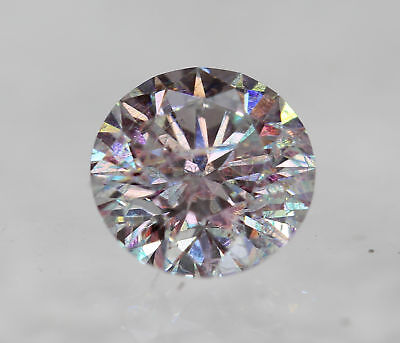 Certified 0.41 Carat D SI1 Round Brilliant Enhanced Natural Diamond 4.84mm 3VG