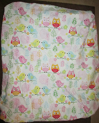 LAST TIME Toddler/baby crib or bed mattress waterproof cover + owl fitted sheet