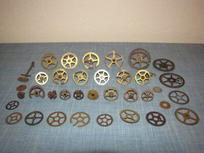 Antique Brass Clock Gears Assorted Sizes Clock Parts Steampunk