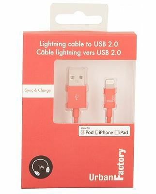 Urban Factory URBAN FACTORY Lightning to USB 2.0 Sync and Charge Cable, 1m, ...