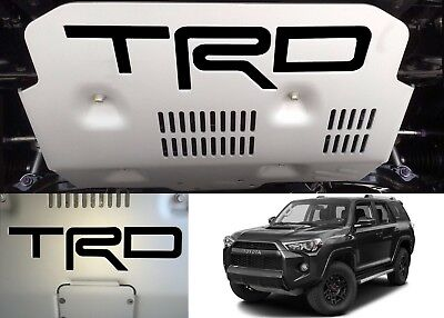 Gloss Black Vinyl TRD Skid Plate Inserts For 2015-2018 Toyota 4Runner New USA