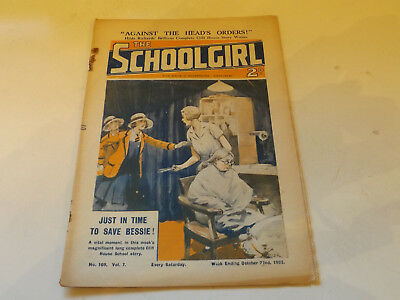 THE SCHOOLGIRL WRITTEN WEEKLY,NO 169,1932 ISSUE,GOOD FOR AGE,85 yrs old,V RARE.