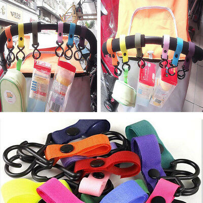 Multicolor Buggy Clip Pram Pushchair Stroller Side Hook Baby Handle Shopping Bag