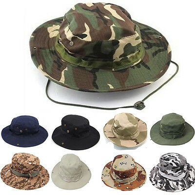 Unisex Outdoor Hunting Fishing Bucket Woodland Camouflage Cotton Hat Boonie Cap