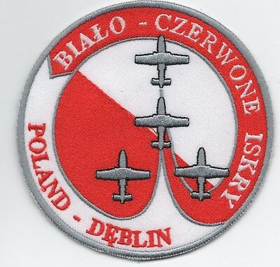 Polish Air Force Display Team Red and White Sharks patch, TS-11 Iskra