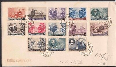 ♠ San Marino 1952 # 346/57 + Pa 30 Y&t Serie Obl Sur Support 115 €