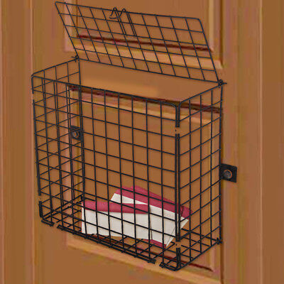 Extra Large Letterbox Cage Door Mounted Letter Guard Basket Post Mail Catcher