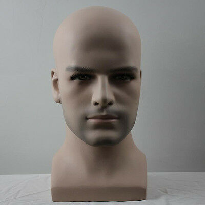 High Quality Fiberglass Dummy Head Male Mannequin for Hat Wig Glasses Display