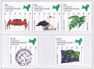 50 Years As An Australian Territory 2008 - Mnh Set Of Five (Bl322-Rr)