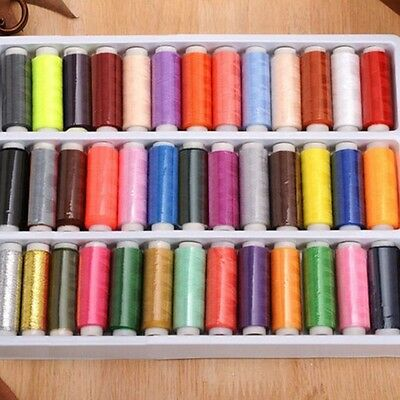 New Mixed Colors Yard Polyester Spool Sewing Thread 39pcs/set