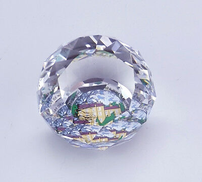 Swarovski Crystal Glass - H.R.H. Prince William Commemorative Paperweight