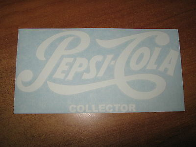 "Pepsi-Cola ""collector"" - Vinyl Sticker In ""white"""