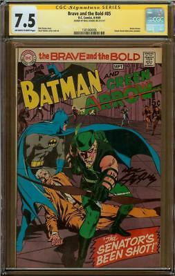 Brave and the Bold #85 CGC 7.5 Signature Series Signed NEAL ADAMS Green Arrow