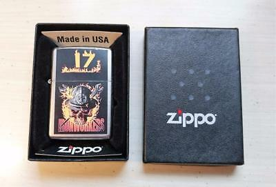 New Zippo Iron Workers Skull Lighter w/ Box ~ 7-F6095