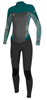 O'neill Womens Flair Zz 5/4Mm Full Wetsuit. Size Uk 10 / Us 8 / Eu 38 O'neill