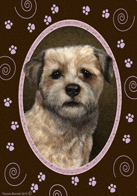 Large Indoor/Outdoor Paws Flag - Border Terrier 17122