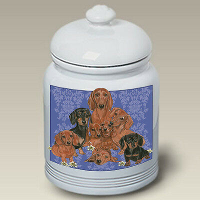 Ceramic Treat Cookie Jar - Dachshund Group (PS) 52802