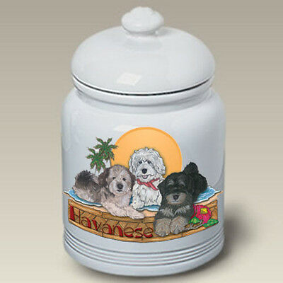 Ceramic Treat Cookie Jar - Havanese (PS) 52092