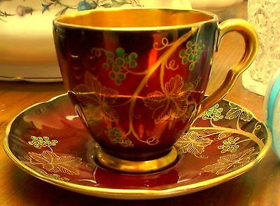 Carlton Ware Rouge Royale  demitasse cup and saucer