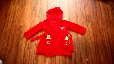Boys Winnie The Pooh Dressing Gown Aged 18-24 Months Good Condition!!