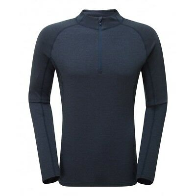 Montane Primino 220 Long Sleeve Zip Neck Men  Primaloft-Merinowolle  blau