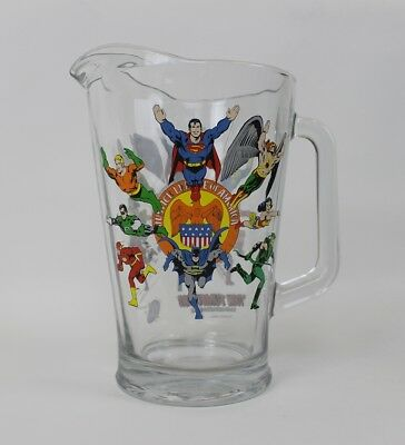 Justice League of America Glass Pitcher 'TOON TUMBLER Justice Society