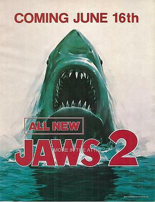 Rare Jaws 2 Original Vintage Us Release Theatrical Mini Poster Herald