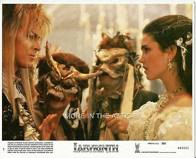 Jim Henson David Bowie Jennifer Connelly Brian Froud Orig Labyrinth Us Lobby Set