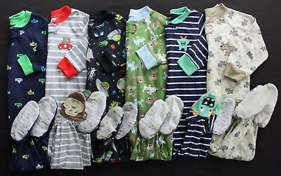 Boy 12 18 Months Carter's Footed Sleeper Pajama Clothes Lot Free Shipping