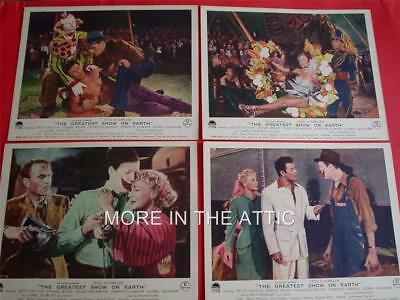 CECIL B DeMILLE JIMMY STEWART DOROTHY LAMOUR GREATEST SHOW ON EARTH UK FoH SET