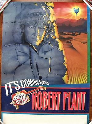 Robert Plant Led Zeppelin Orig Canadian Issued Unused Rolled Tour Poster