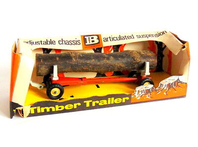 BRITAINS LTD adjustable chassis TIMBER TRAILER with its wooden log. Cat No. 9559