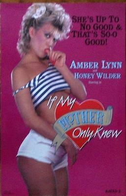 Amber Lynn Honey Wilder Original Vintage 4 Page Sexy Pressbook Old Stock