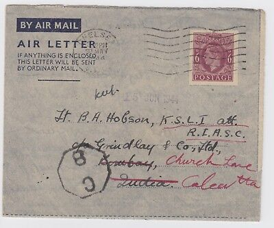 WW2 Air Mail Letter King's Shropshire Light Infantry 1944 Attached Indian Army