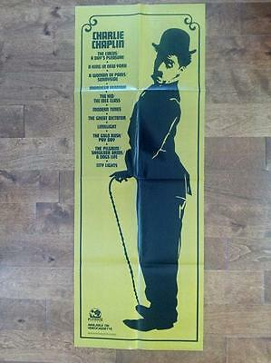 Charles Charlie Chaplin Orig Silent Comedy Cute Promotional Door Poster