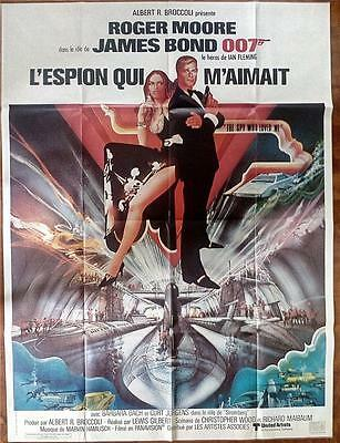 Roger Moore Barbara Bach Spy Who Loved Me Orig James Bond Film Poster Bob Peak