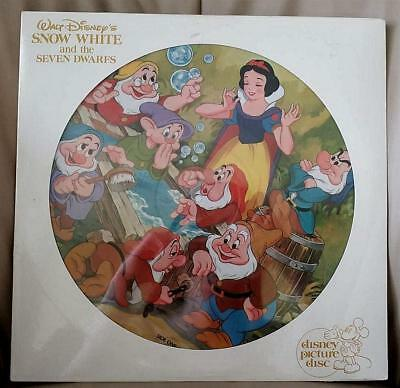 Walt Disney Snow White And The Seven Dwarfs Factory Sealed Orig Picture Disc Lp
