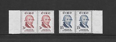 Ireland - 1959 - Guiness issue - 2 values - marginal pairs - unmounted mint