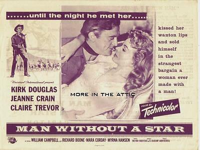 Kirk Douglas Is The Man Without A Star Orig Universal Pictures Western Herald