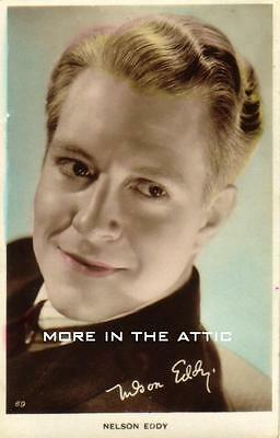 Nelson Eddy Original Vintage Uk Issued Real Photo Postcard