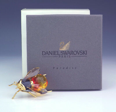 Daniel Swarovski Crystal Glass - Paradise Alipur Insect Figure & Stand - Boxed!