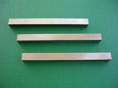 """3Pce 3""""L-3/8"""" Square M2 HSS Fully Gound Metal Lathe Tool Steel Cutter Bits"""
