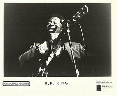 Blues Guitarist B.b. King Original Vintage Studio Portrait Still #1