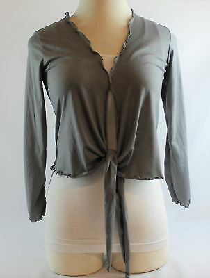 YAFFA Heather Gray Apres Wrap Size S Retail $80
