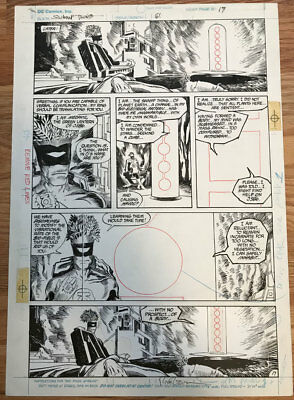 Swamp Thing #61 Page 17 - Original Art by Rick Veitch from the Alan Moore Run