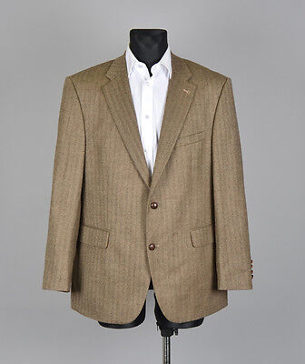 Barbour Herringbone Elbows Patched Men Wool Jacket Blazer Size 27, Genuine