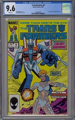 Transformers #9 CGC 9.6 NM+ Wp 1st Circuit Breaker Huge Key Marvel Comics 1985